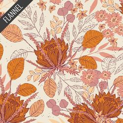 Seasonal Bouquet Flannel in Plum