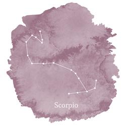 Scorpio Sign Panel in Celestial