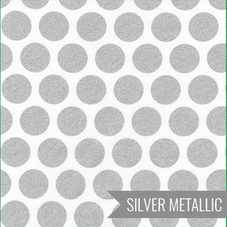 Grand Spots in Silver Metallic