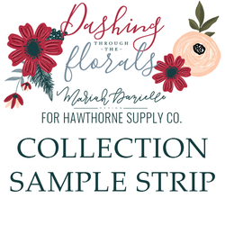 Dashing Through the Florals Sample Strip