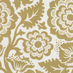 Blockprint Blossom Voile in Gold