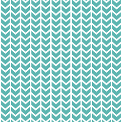 Broken Chevron in Seafoam