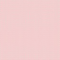 Small Winter Dot in White on Sweet Pink