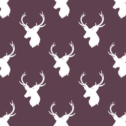 Little Stag Silhouette in Raisin