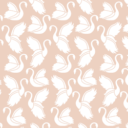 Swan Silhouette in Shell