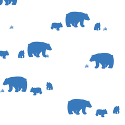 Bear Silhouette in Cerulean