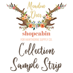 Meadow Deer Sample Strip