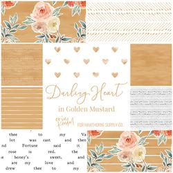 Darling Heart Fat Quarter Bundle in Golden Mustard
