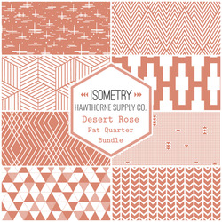 Isometry Fat Quarter Bundle in Desert Rose