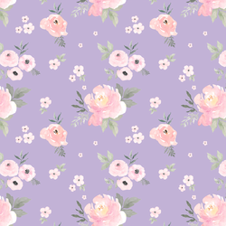 Small Sweet Blush Roses in Lilac