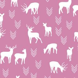 Deer Silhouette in Wisteria