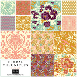 Floral Chronicles Fat Quarter Bundle in Blush