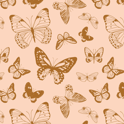 Boho Butterflies in Caramel Blush
