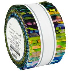 "Cannabis Sativa Artisan Batiks 2.5"" Strip Roll"