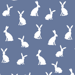 Cottontail Silhouette in Azurite