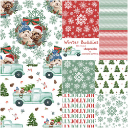 Winter Buddies Fat Quarter Bundle Big Scale