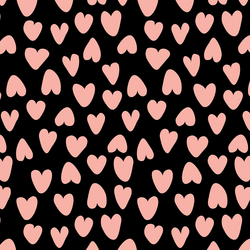 Large Valentine's Heart in Pink and Ebony