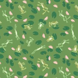 Frogs in Grassy Green