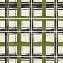 Large Plaid in Pine Forest