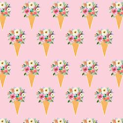 Floral Cone in Bubble Gum