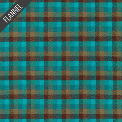 Mammoth Small Check Flannel in Surf