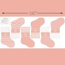 Stockings Panel in Peony