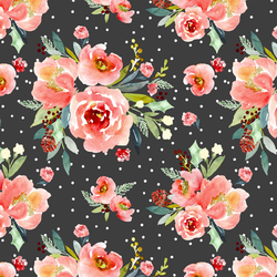 Snowberry Floral in Onyx