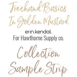 Freehand Basics Low Volume Sample Strip  in Golden Mustard