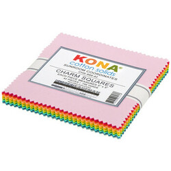 """Kona Solid 5"""" Square Pack in Sunroom Coordinates"""