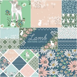 Lamb Fat Quarter Bundle in Morning Dew