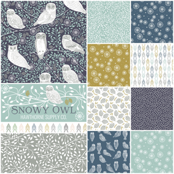 Snowy Owl Fat Quarter Bundle in Daybreak