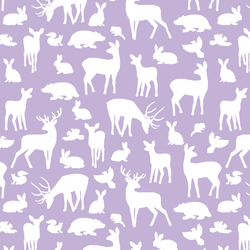 Forest Friends in Lilac
