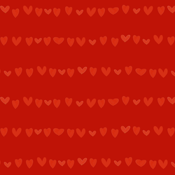 Large Striped Hearts in Red