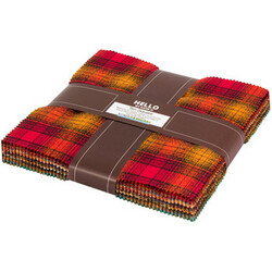 """Mammoth Flannel 10"""" Square Pack in Yellow"""