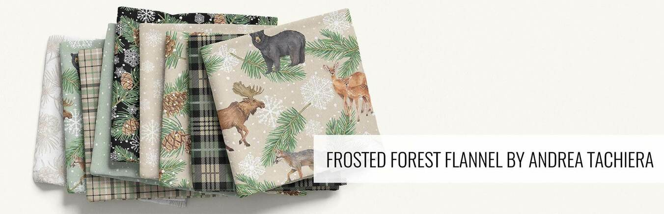 Frosted Forest Flannel by Andrea Tachiera