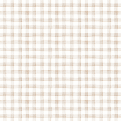 Garden Gingham in Soft Taupe