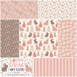Hoppy Spring Fat Quarter Bundle in Pink