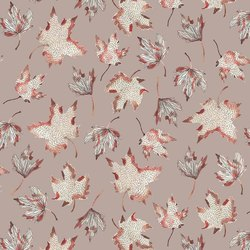 Leaves in Taupe
