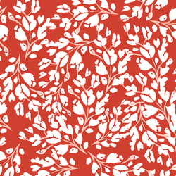 Large Frost Floral in Cardinal Red