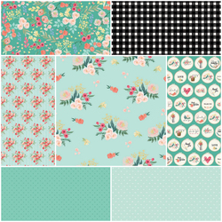 Flower Market Fat Quarter Bundle in Anemone