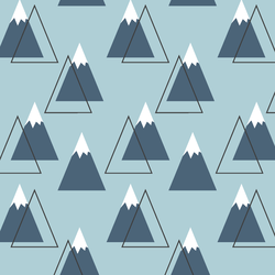 Mountain Peaks in Powder Blue