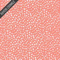 Mosaic Crinkle in Peach