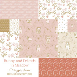 Bunny and Friends Fat Quarter Bundle in Meadow