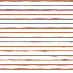 Artisan Stripe in Terracotta on White