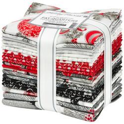 Holiday Flourish 15 Fat Quarter Bundle in Scarlet Colorstory