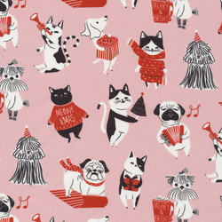 Pawsome Holidays in Light Pink