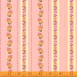 Floral Stripe in Pink
