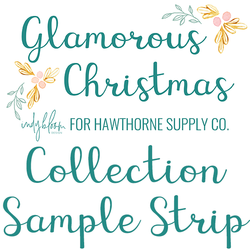Glamorous Christmas Sample Strip