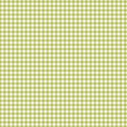 Gingham in Lime Green