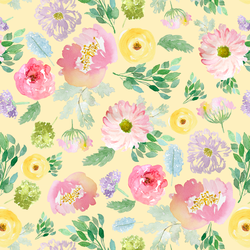 Spring Blooms in Buttercup